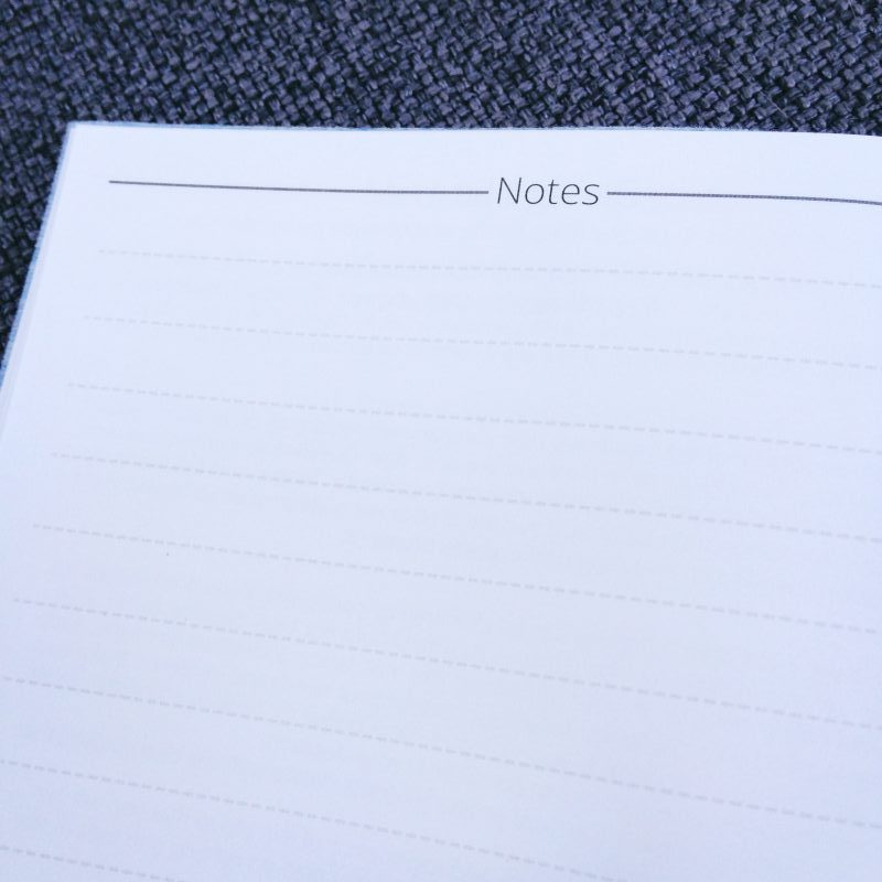 Notes pages