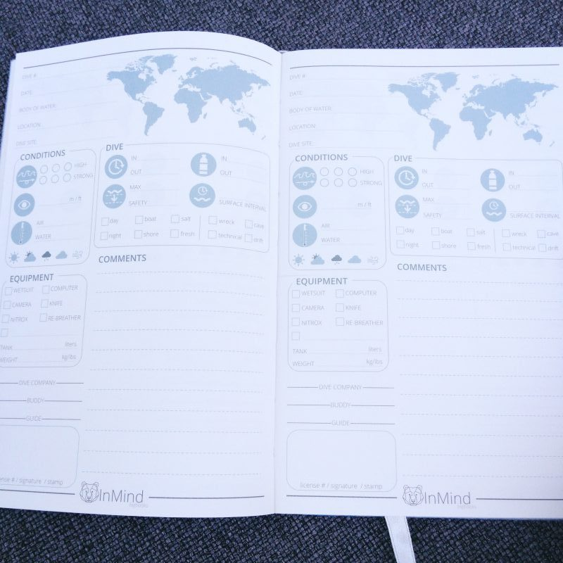 Diving logbook page